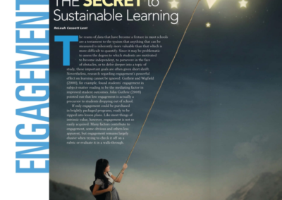 Engagement: The Secret to Sustainable Learning, Principal Leadership
